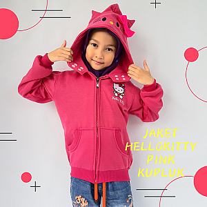 Jaket Anak Hello Kitty Pink Kupluk